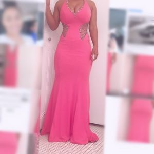 Tiffany Designs Bright Pink Prom Dress